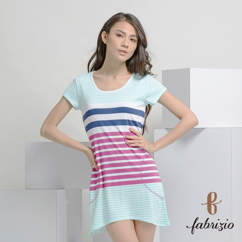 Hot Sale manufacturers Blank Fitness Printed 100% Cotton swing hem styles Engineer T-Shirts Stripe taiwan Dress