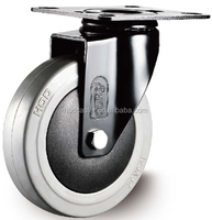 125mm top plate swivel ER caster fixed wheel trolley wheel