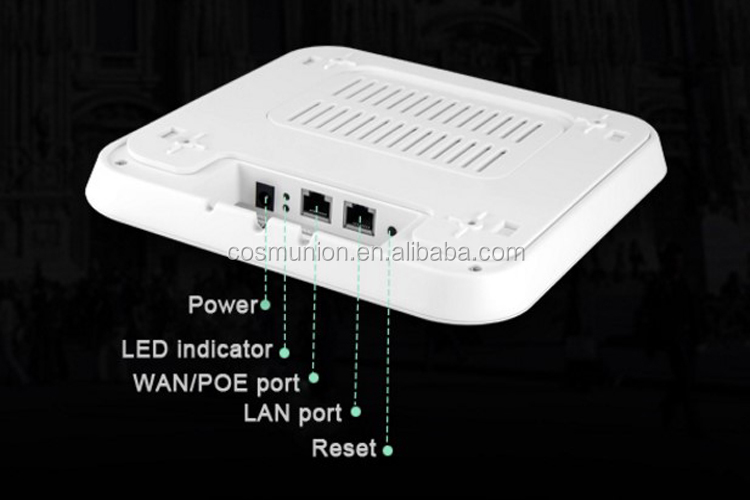 high speed Ceiling poe Ap with Gateway/AP/ Repeater mode supports 100 end users
