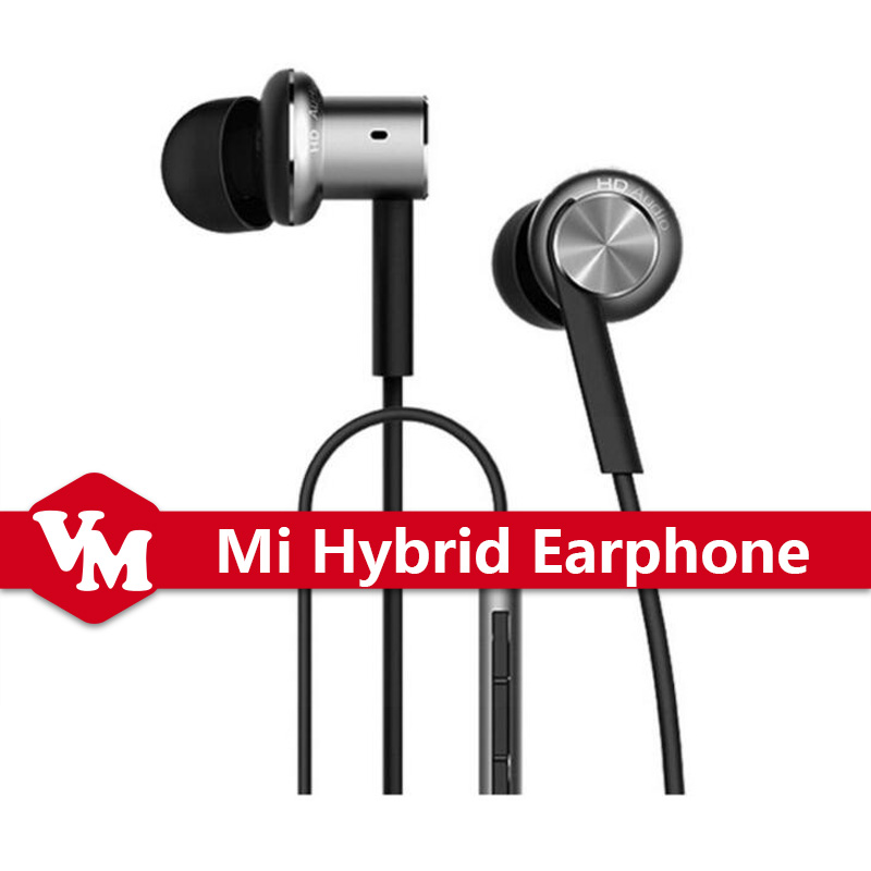 Original Xiaomi Hybrid Earphone Mi Iron Circle Piston 4 In-Ear 3.5mm Stereo Earphones With Mic Earphone For Android IOS