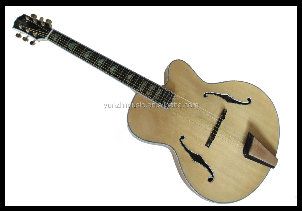 17inch fully handmade flamed maple archtop electric jazz guitar