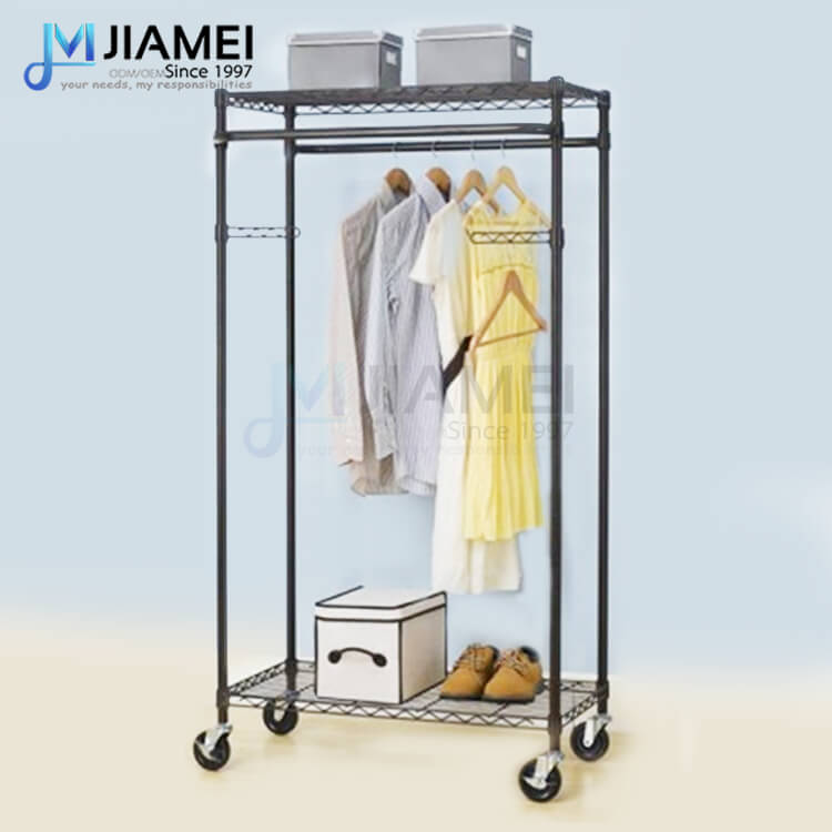 Black Metal Garment Rack (JCL183665)