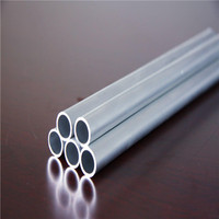 0.3~50mm aluminum round hollow pipes 6065 t5 t6 for decoration hand rail and water pipes