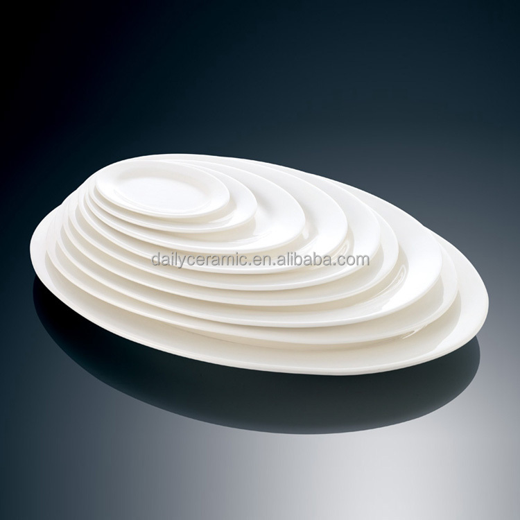 Wholesale Ceramic Plate Cheap Bulk White Porcelain Dinner
