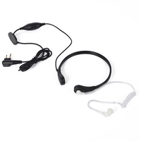High Quality Throat Control Referee Walkie Talkie Headset for Kenwood Radio
