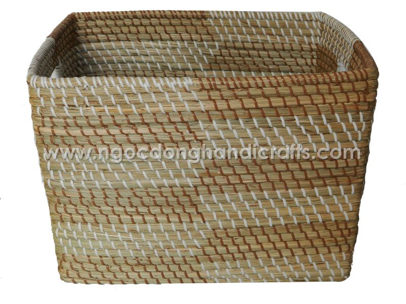 Seagrass storage basket made by hand from Viet Nam