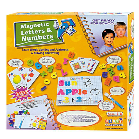 Platic Magnetic Letters and Numbers Kids Preschool Educational Toys
