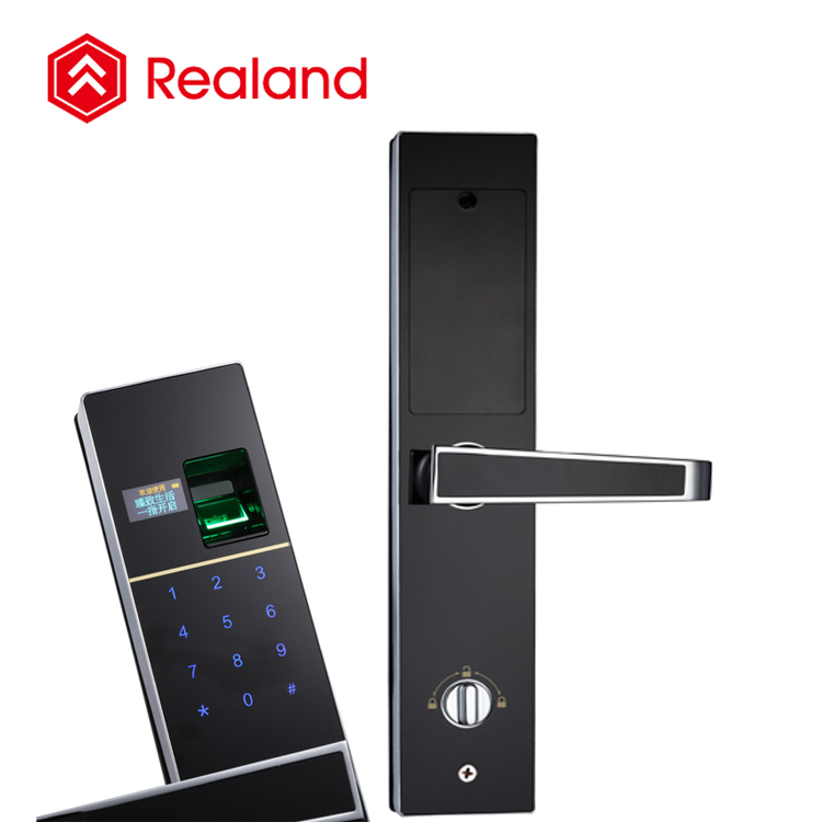 Realand F2 home zinc alloy fingerprint combination electronic door lock
