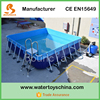 13ft*13ft Metal Frame Swimming Pool For Backyard , Square Above Ground Pool With Cover For Sale