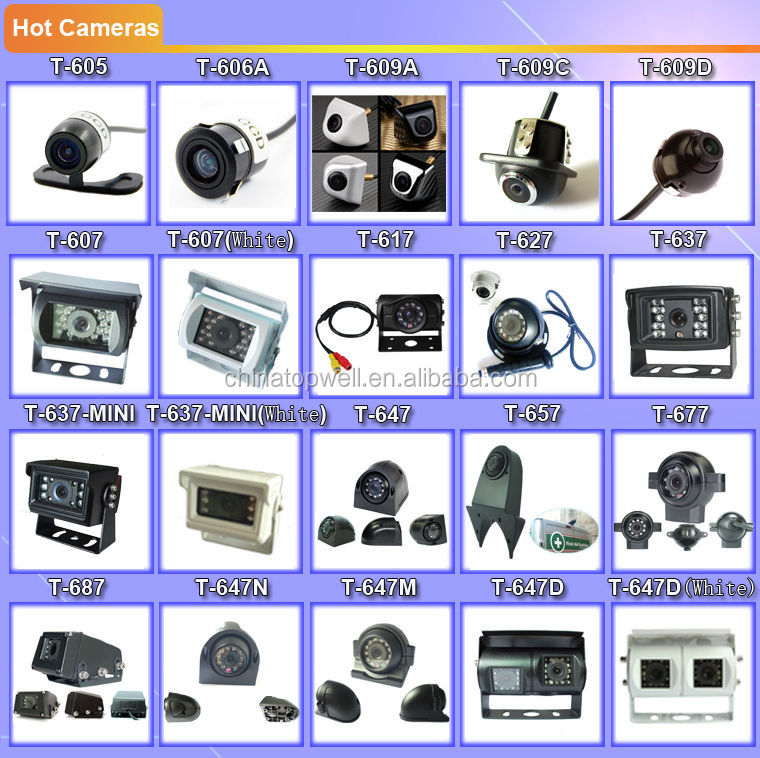 DC12V & 24V 960P HD AHD 9'' Reversing Camera System with a mini IR Cam
