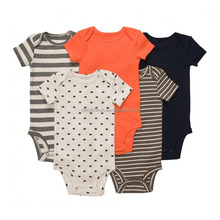 Wholesale factory price cartoon style baby girl and boy summer clothes new born baby bodysuit baby clothes bodysuits