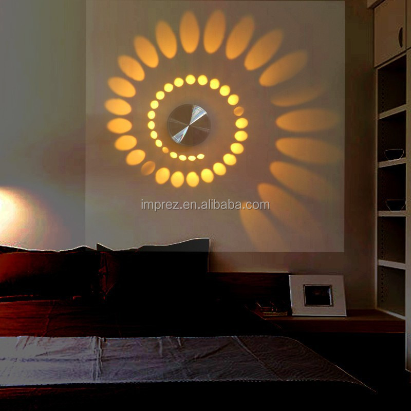 3w 85 265v Modern Indoor Wall Light Aluminum Wall Lamp Applicable