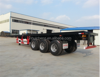 container semi-trailer flatbed truck trailer with air suspension trailer optional