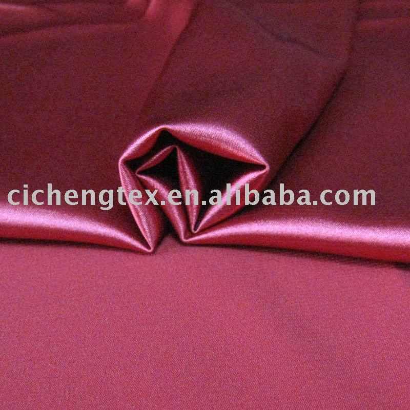 50D polyester spandex satin/sateen dying for ladies' garment