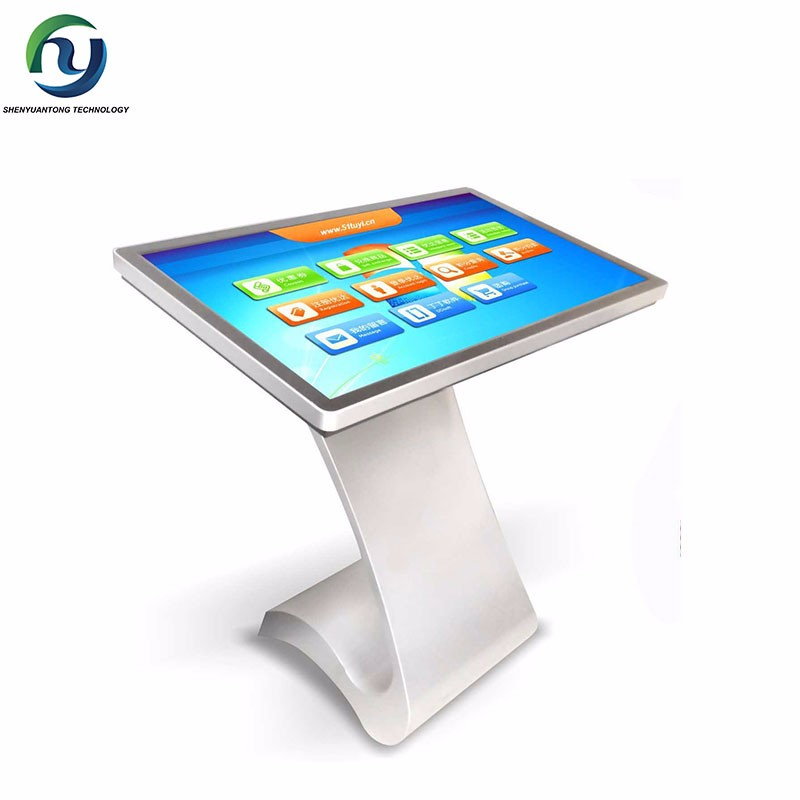 65'' Shopping Mall Advertising Touch Screen Kiosk Lobby of Hotel LCD Self Service Kiosk