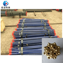 Shank hex H19mm 3.03kg per meter shank 108 tapered drill rod for mining machinery parts