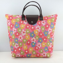 cute eco china foldable shopping bag/ 600 denier polyester fabric tote bag
