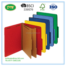 Brand Classification Folder, Letter, 2 Dividers, Embedded Fasteners, Assorted Colors