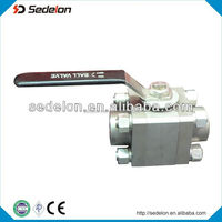 Two Piece/Three piece Stainless Steel 316 Ball Valve With Handle