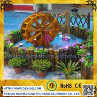 Small Bamboo Waterwheel Music Dancing Water Fountain for Wood Decor