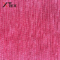 100% polyester striped pattern chenille fabrics with brushed pille for sofa upholstery