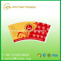 printed PE coated paper cup fan /body for making paper cups coated pe/pla coated paper cup sleeve for making coffee cups