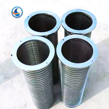 reverse continuous slot wire wrap reverse rolled wedge wire screen pipe