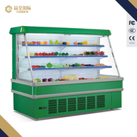 Commercial display fridge vegetable refrigerators/fruit air cooler used in supermarket