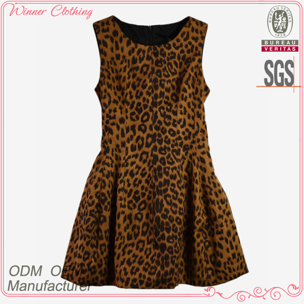 Under the trend fashion leopard print very very sexy women clothing