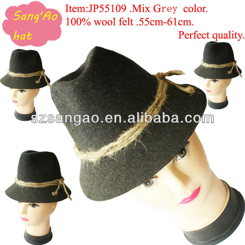 wholesale Making mini wool Sinamay Church Hat for party or dress
