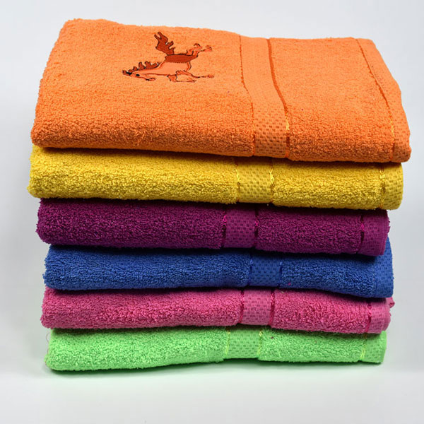 solid color woven 100% organic terry cotton fabric bath towel