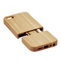 Handmade case For iPhone 5 5S wooden real Bamboo hard back cover