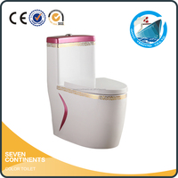 bathroom ceramic S trap 300mm P trap 180mm siphonic toilet plumbing materials cheap one piece toilet