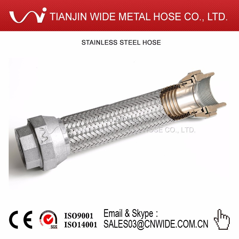 Stainless Steel Fitting Non-Welded Corrugated Flexible Hose for Industrial