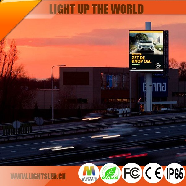 full color DIP P10 outdoor LED moving panel LED display board for video advertising in 2017 China manufacturer
