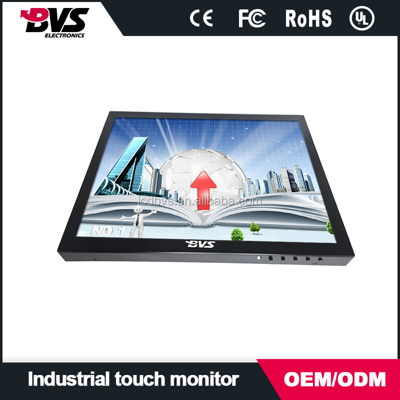 vga/bnc/av input 1080P 15 inch lcd monitor square screen