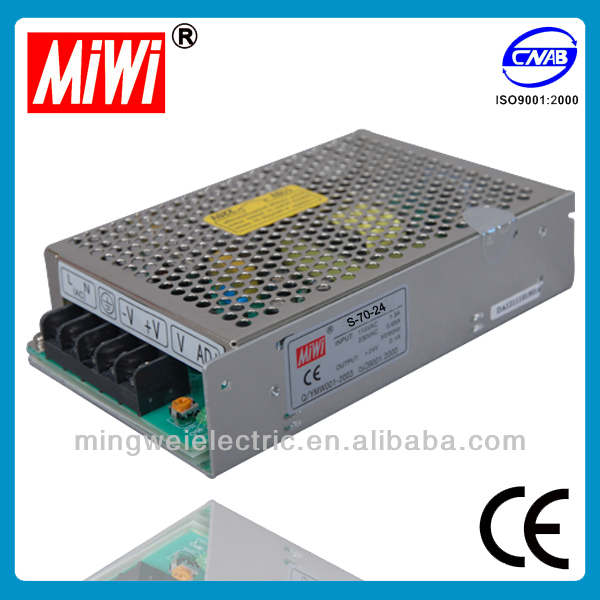 MiWi S-75-24 75W 24V electric recliner Single Output Switching Power Supply,high voltage power supply