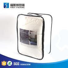 Strong & durable transparent PE/PVC quilt bag with zipper