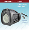 SHIER TK-T99 China made Bluetooth portable fm radio mini digital speaker with Wireless micro