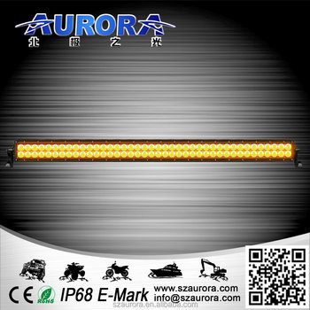 Aurora 40'' amber color LED work led light bar atv 4x4