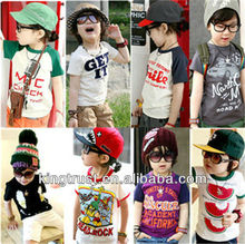 100% cotton children wear printed t-shirt for this summer
