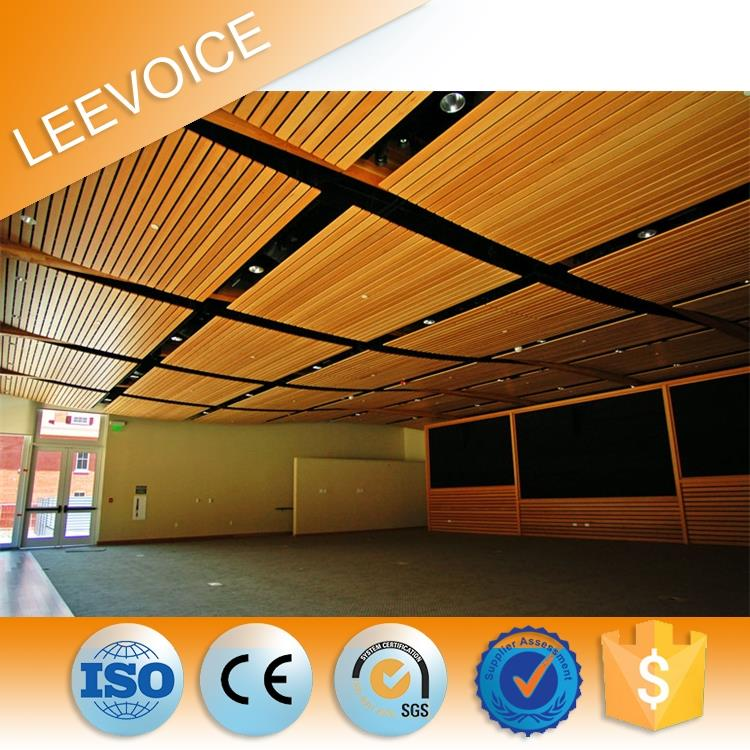 Fire Proof Perforated Wood Panels Acoustic Sound Absorbing Materials