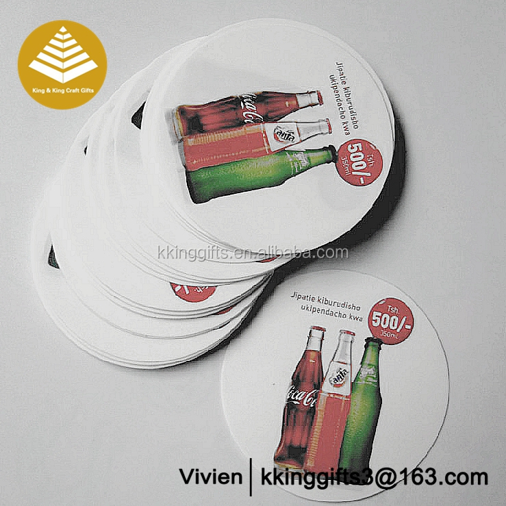 Customise cheap colored printing plastic beer drink coasters,blank plastic coaster
