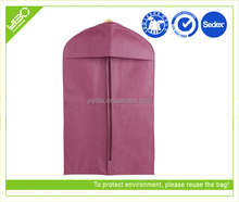 Customized logo dustproof breathable non woven zip lock garment bag 2.25