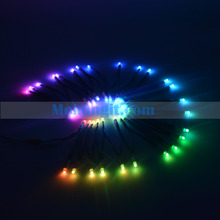 100pcs/string addressable PL9823-F5 led string;DC5V input;10cm wire spacing RGB full color module light