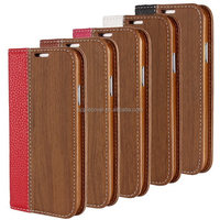 Fashion Wood Grain Pattern Flip Stand Leather Case for Samsung Galaxy S5