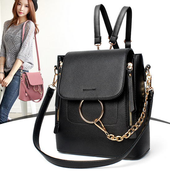 new design fashion leather pu backpack for women