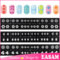 2016 new durable high quality fashion design of stencil for nail art