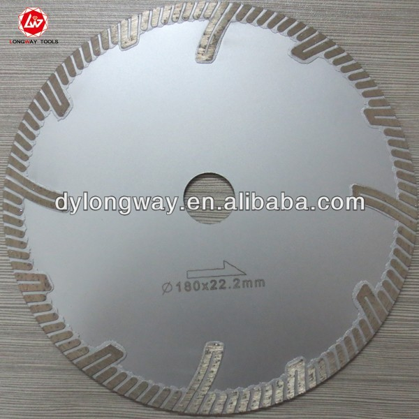 "180mm 7""hot press turbo diamond saw <strong>blade</strong> for cutting stone diamond tools for bricks, granite,marble,masonry and concrete.DIY"