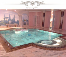 Swimming pool for villa, SPA, Hotel and private house , glass swimming pool mosaic tile